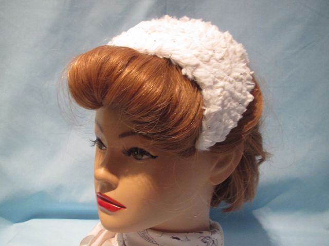 White vintage style hair decoration